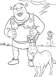 Small Picture Shrek Coloring Pages Coloringpages1001com