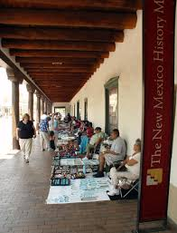 santa fe plaza new mexico the best place to get locally made handmade silver or turquoise jewelry and other local crafts