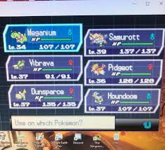Enjoying Blaze Black 2 this Christmas, May try and beat it today! Here's my  team going into the Driftveil Gym.: PokemonROMhacks