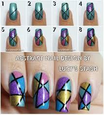 Easy Nail Polish Designs Tutorial Abstract Holo Nail Art Design With Tutorial Diy Nail