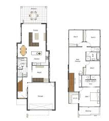 could even work as duplex with stairs in middle. Find this Pin and more on Modern  Minimalist Narrow Home Plans ...