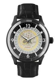 Buy <b>CCCP CCCP</b> Men's <b>Black</b> Genuine Leather Strap Watch - CP ...