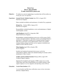 Mri Service Engineer Sample Resume Lovely Mri Service Engineer Sample Resume Pleasing Download Com 3