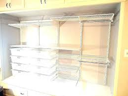 closetmaid white shelf shelf track system awesome kit wire shelving adjule wall closet maid 4 drawer