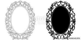 vintage frame design oval. Oval Vintage Border Frame Engraving With Retro Ornament Pattern In Antique Baroque Style Decorative Design. Design