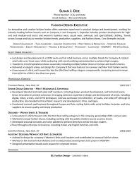 Assistant Designer Resume Fashion Executive Resume