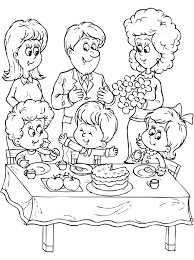 Small Picture Birthday With Family Coloring Pages Pinterest