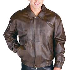 men classic distressed aviator er leather jacket
