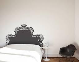 vintage bed headboard wall sticker