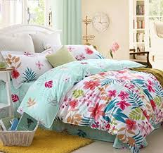 Girls Tropical Print Beach Style Bedding
