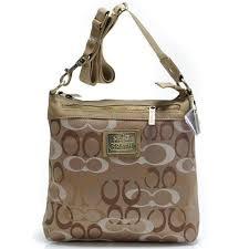 Coach Legacy Swingpack In Signature Large Khaki Crossbody Bags 51151