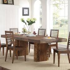 riverside s modern gatherings wood dining table chairs brushed acacia by humble abode the beautiful