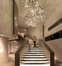 staircase lighting ideas stairwell lights artwork and hanging staircase hanging lights o10