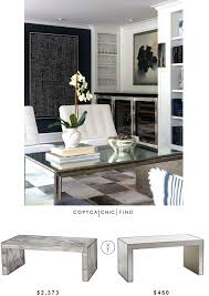 worlds away mirrored parsons coffee table