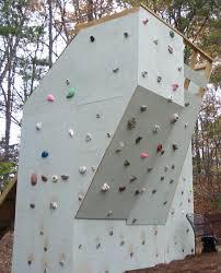 the final product backyard climbing wall