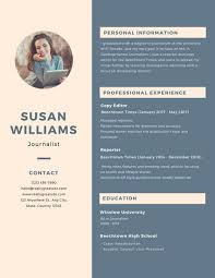Blue And Cream Sidebar Scholarship Resume - Templates By Canva
