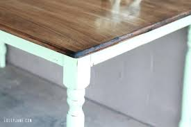 paint table top faux aging with homemade chalk paint can you spray paint glass table top