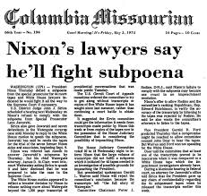 Image result for the prosecutor issued a subpoena to Nixon,