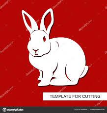 Easter Template Rabbit Stencil Outline Silhouette Rabbit Decor Easter