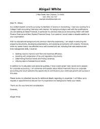 Accounting Intern Cover Letter Accounting Intern Cover Letter Sample