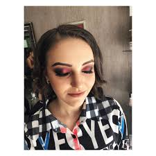 awesome black and red eye makeup