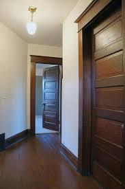 Five panel wooden interior doors