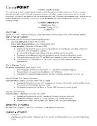 Employment Resume Examples Employment Resume Samples Free Resume Examples By Industry Job 19