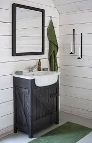 elegant black wooden bathroom cabinet. Bathroom , Elegant Rustic Vanities : Small With Black Color And White Wooden Cabinet T