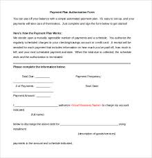 Automatic Withdrawal Form Template Payment Plan Agreement Template 12 Free Word Pdf