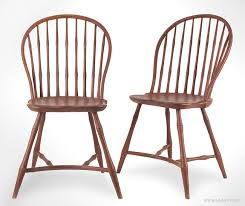 antique pair of windsor chairs with yoke form stretcher circa 1800 pair view