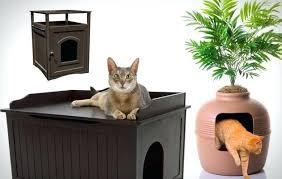 corner cat litter box furniture. Cat Litter Cabinet Corner Box Furniture Covered Designs