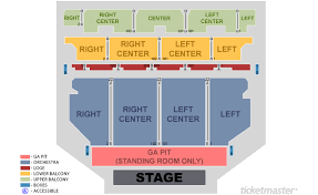 Tennessee Theatre Seating Map