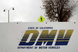 pasadena ca signage is seen at the state of california department of motor vehicles