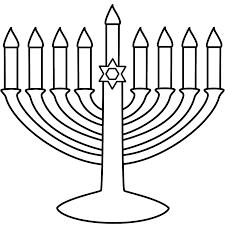 1000x1000 easy to print menorah coloring page hanukkah