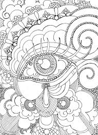 Eyes Strange Coloring Pages Print Coloring