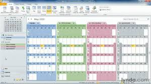 Outlook Tutorial How To Work With Multiple Calendars Lynda Com