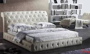 leather bed king size diamond
