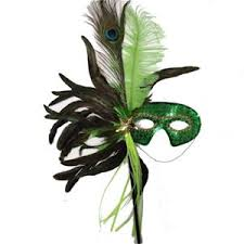Masquerade Mask Table Decorations Apple Green Masquerade Mask with sequins Use in Mardi Gras 27
