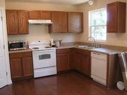 Brown Trim Paint Painting Dark Wood Kitchen Cabinets