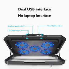 Đế Tản Nhiệt Cho Laptop 5 Quạt Tích Hợp Đèn Led Rgb giá cạnh tranh