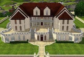 sims room ideas mansion big house floor