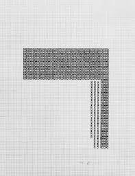 Eva Hesse Untitled 1967 Black Ink On Graph Paper 280 X 290 Mm
