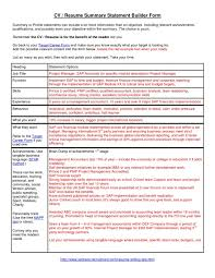 Cover Letter Template For Example Of Summary On Resume Gethook