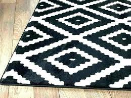 black and white area rug 8x10 solid rugs wool d chevron round