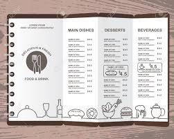 Restaurant Menus Layout Restaurant Menu Infographics Background And Elements Design