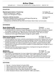 Resume Format For Quality Engineer Quality Engineer Sample Resume Wlcolombia