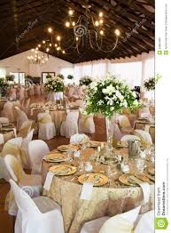 Wedding Reception Hall With Laid Tables Stock Image Image 20884289