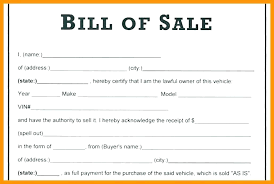 Sold As Seen Receipt 2 Car Example Free Template Sales Word