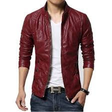 faux leather jacket as01