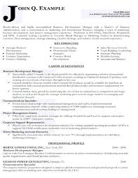 Business Development Manager Resume Samples